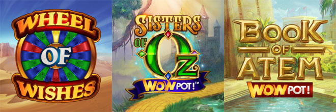The WowPot Slot Series by Microgaming